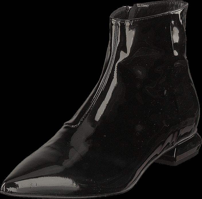 A Pair Flat Pointed Trend Bootlet Vernice Nero, Sko, Boots & Støvler, Høje boots, Grå, Dame, 39