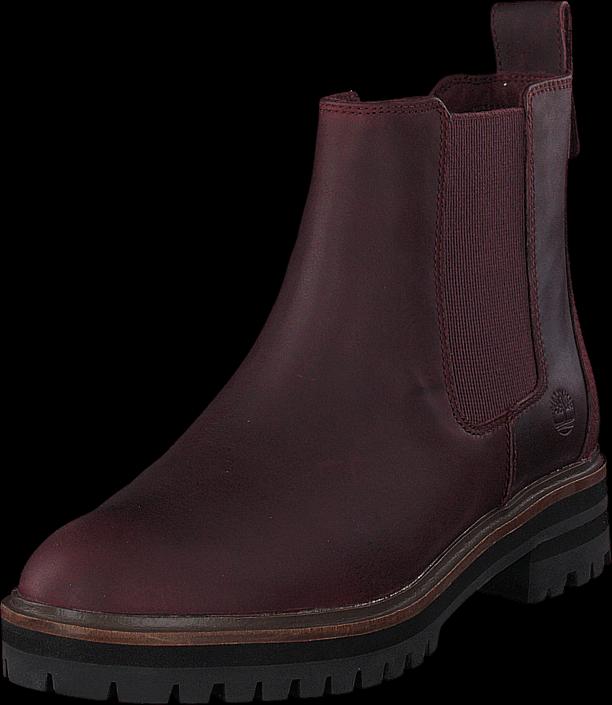 Timberland London Square Chelsea Burgundy, Sko, Boots & Støvler, Chelsea boots, Brun, Dame, 38
