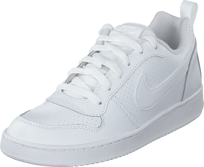 Nike Court Borough Low (gs) White/white-white, Skor, Sneakers & Sportskor, Sneakers, Vit, Barn, 36