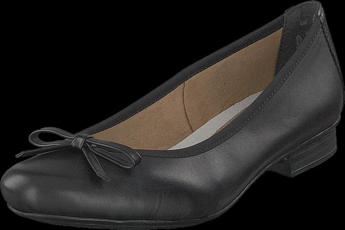 Rieker 51953-00 Black, Sko, Lave sko, Ballerina, Svart, Dame, 36
