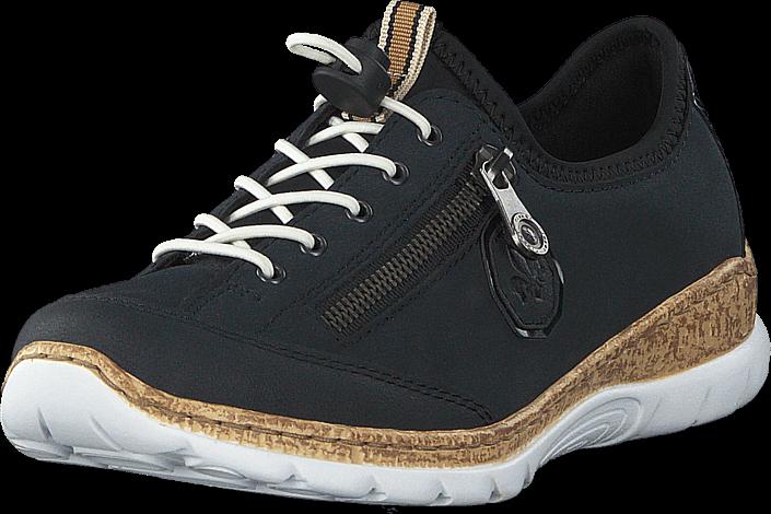 Rieker N4263-14 Pazifik, Skor, Sneakers & Sportskor, Sneakers, Svart, Dam, 39