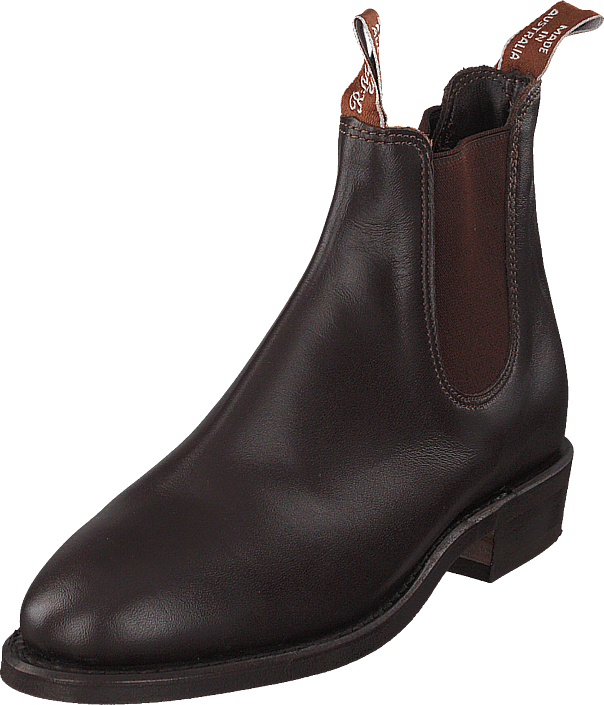 RM Williams Adelaide Rubber Sole (G Fit) Dark Tan, Sko, Boots & Støvler, Chelsea boots, Brun, Grå, Dame, 35