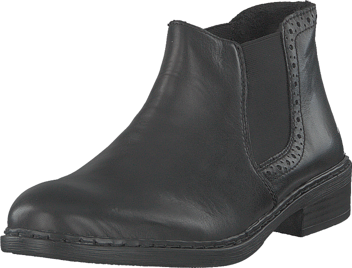 Rieker 77584-02 Black, Sko, Boots, Chukka boots, Grå, Dame, 36
